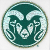 """Cover Image for 5"""" CSU Ram Head Embroidered Emblem"""