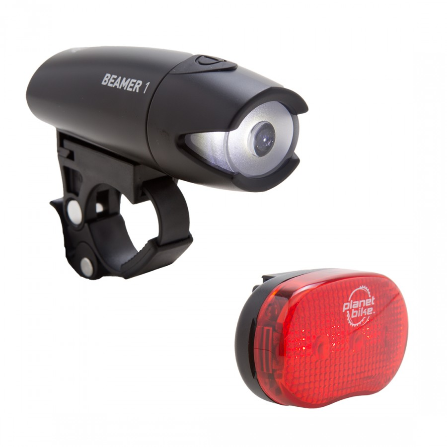 Image For Planet Bike Beamer 1 and Blinky 3 Bike Light Set