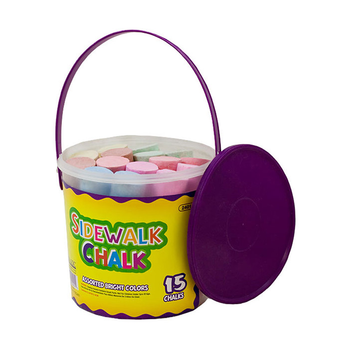 Cover Image For Sidewalk Chalk 15 Count Bucket
