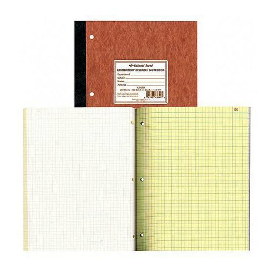 Image For National Brand 43-649 Lab Research Notebook