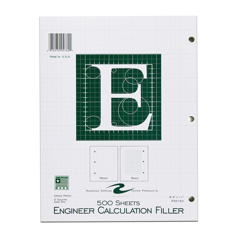 Image For Engineer Calculation Filler Paper