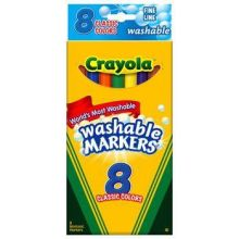 Image For Crayola Fine Line Washable Markers 8 Pack
