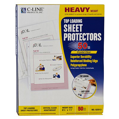 Image For C-Line Heavyweight Poly Sheet Protectors