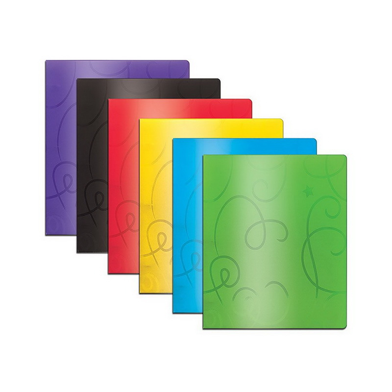 Cover Image For Bazic 2 Pocket Poly Swirl Folder