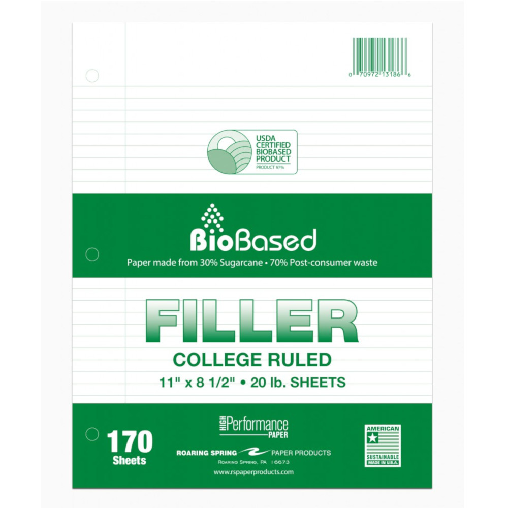Image For Biobased College Ruled Filler Paper