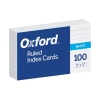 "Oxford™ Ruled Index Cards, 3"" X 5"", White, 100 Pack Image"