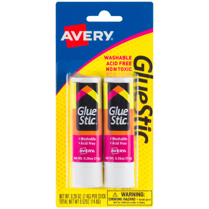 Image For Avery Glue Stic 2 Pack