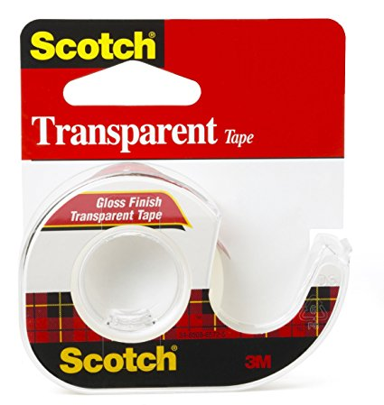 Image For Scotch Transparent Tape - 1/2 in. x 450 in. (12.5 yd)