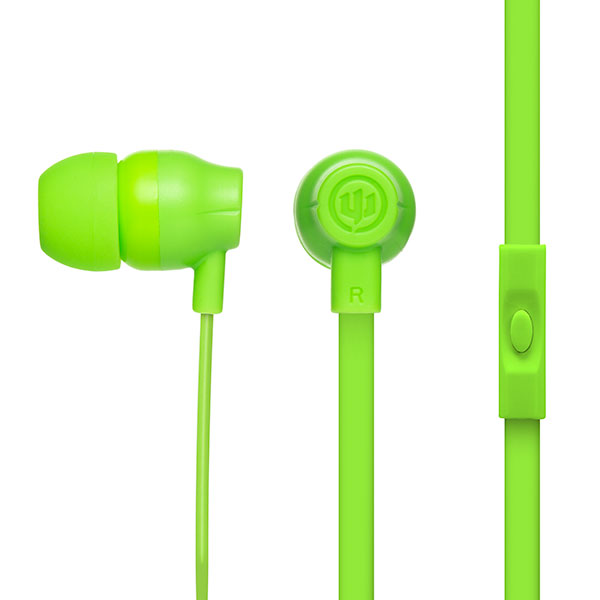 Image For Wicked Audio Drive 750cc Headphones w/Mic - Lime Green