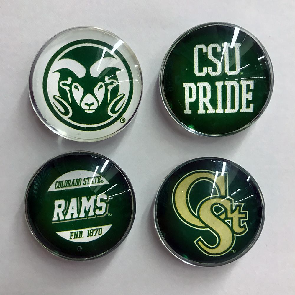 Image For CSU 4 Pack of Clear Dome Magnets