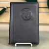 Image for Black Debossed Ram Head Padded Leather Journal Holder