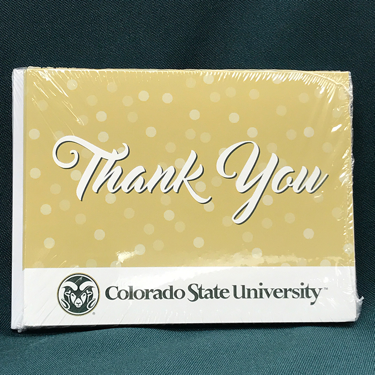 Image For CSU Golden Thank You Cards