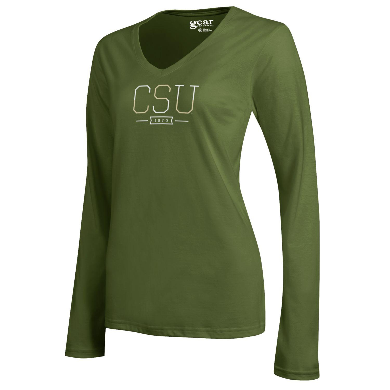 b8699746 Cargo Olive Colorado State V Neck Long Sleeve by Gear