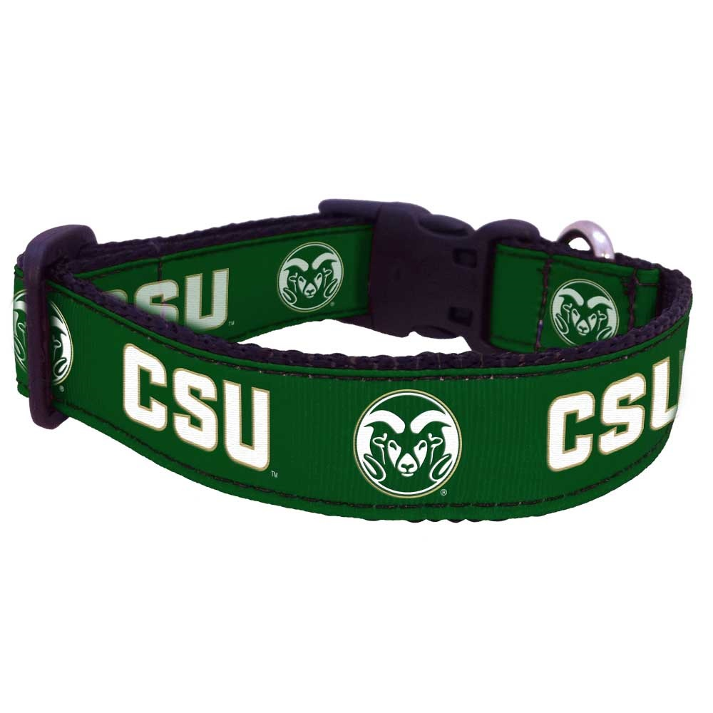 Image For Medium CSU Rams Dog Collar