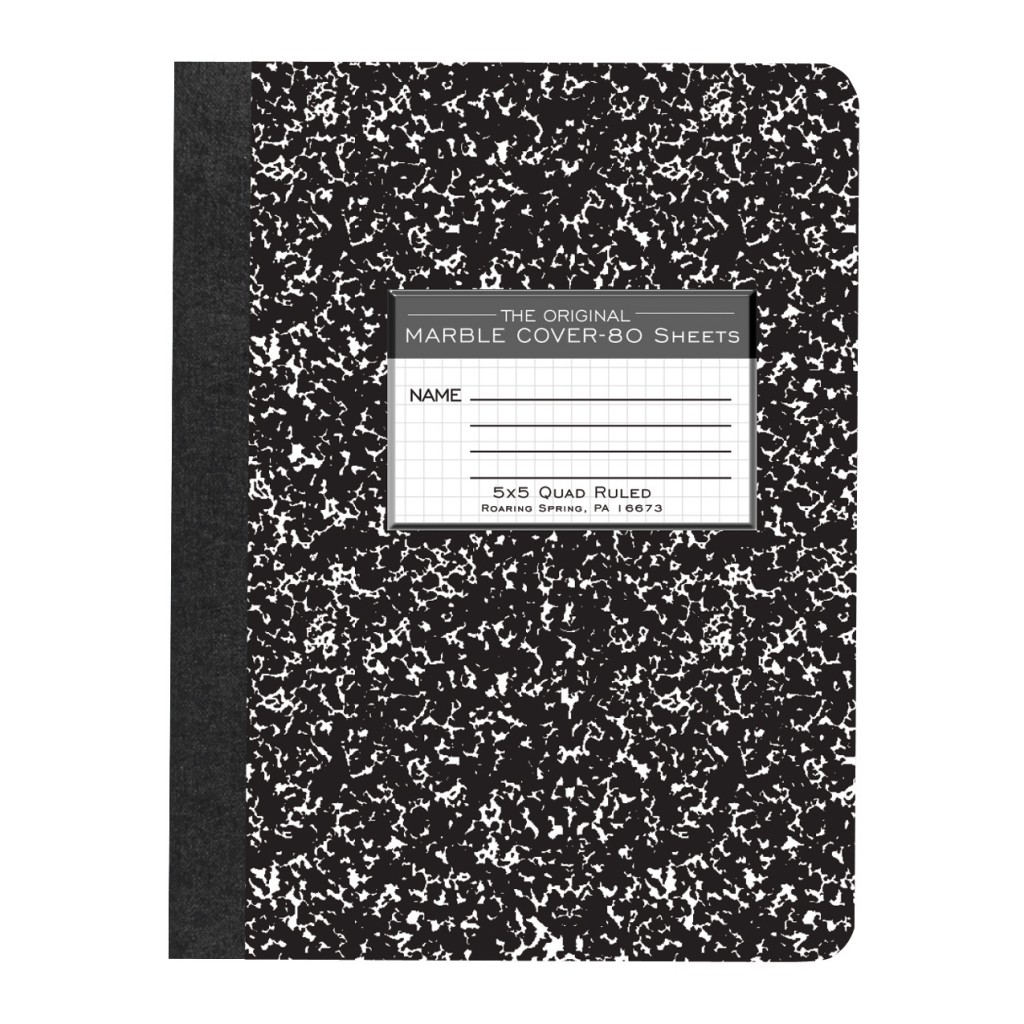 Image For 5x5 Quad Ruled Marble Notebook - 80 Sheets
