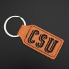 Image for CSU Taupe Laramie Vegan Leather Key Tag