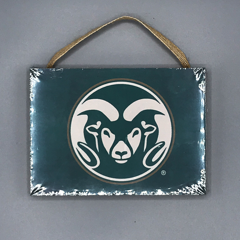Cover Image For Small CSU Ram Head Logo Plaque