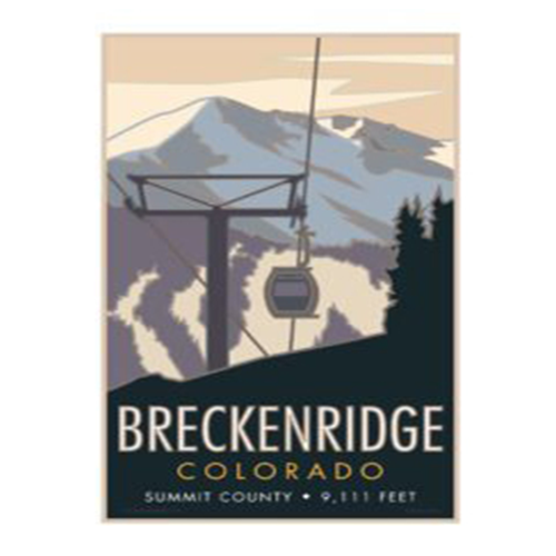 Image For Breckenridge CO Poster by CSU Alum Blair Hamill