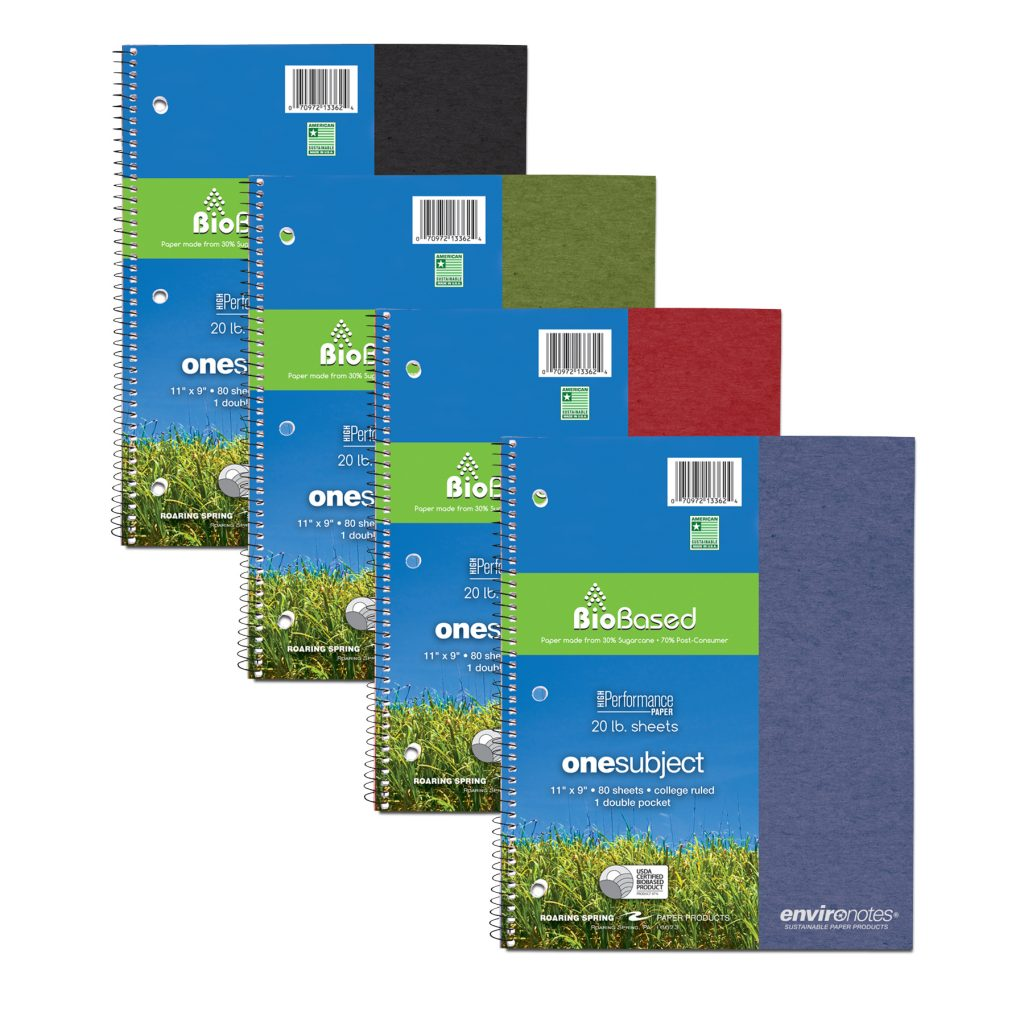 Image For Biobased 1 Subject College Ruled Spiral Notebook