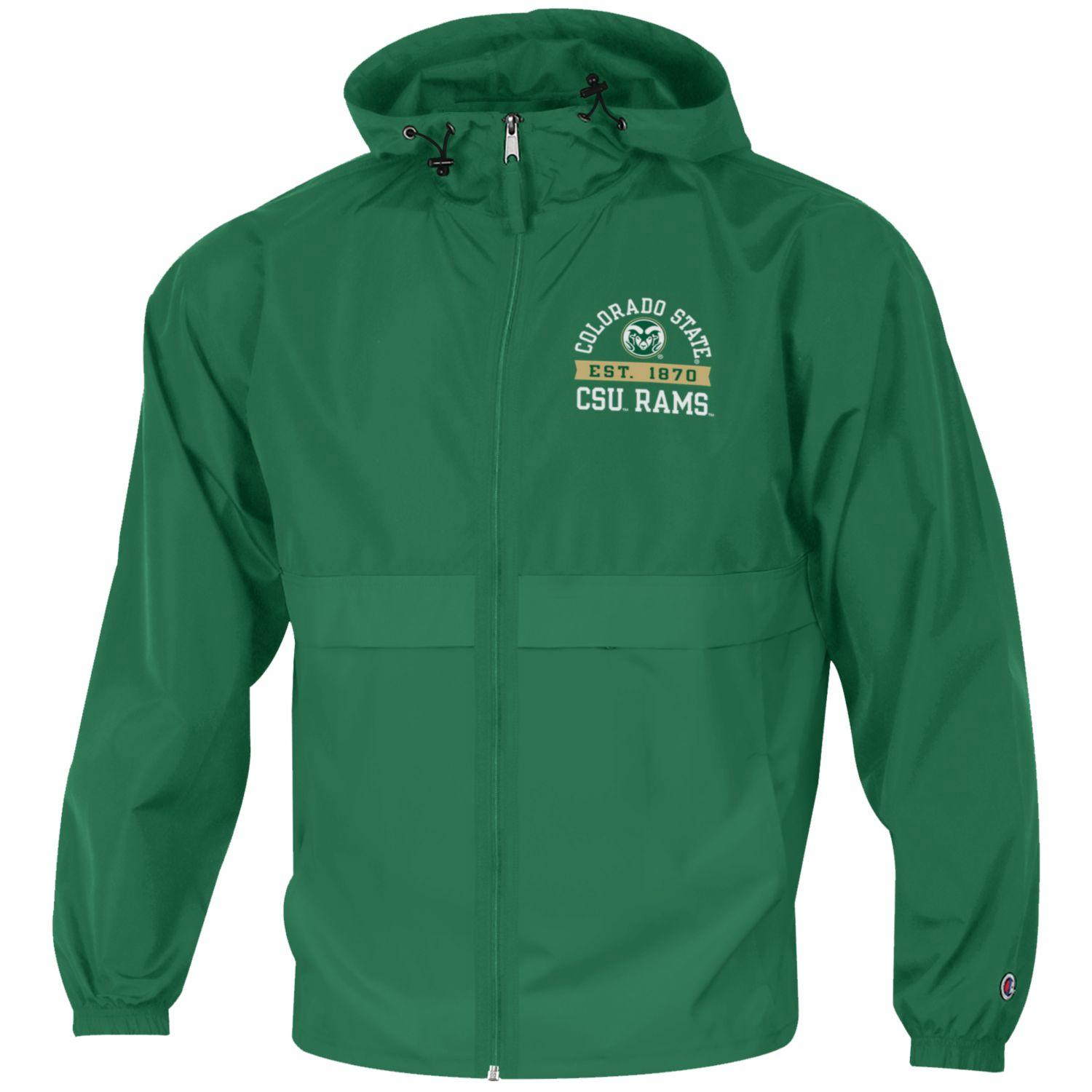 Image For Green Colorado State University Full Zip Jacket by Champion