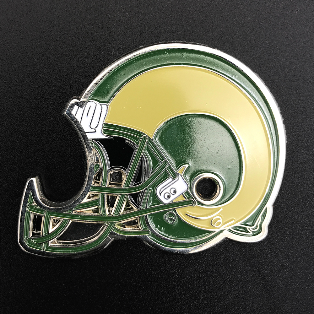 Image For Colorado State Football Helmet Challenge Coin