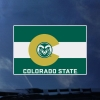 Image for CSU Rams Colorado Flag with Ram Head Logo Decal