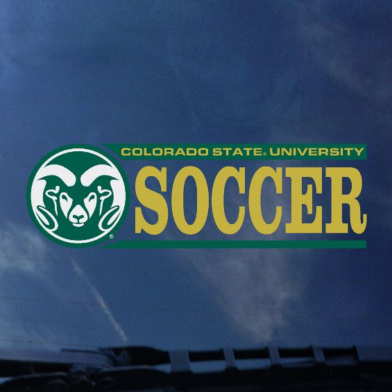 Cover Image For CSU Rams Soccer Decal