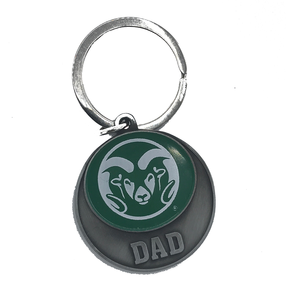 Image For CSU Dad Green Ram Head Key Tag