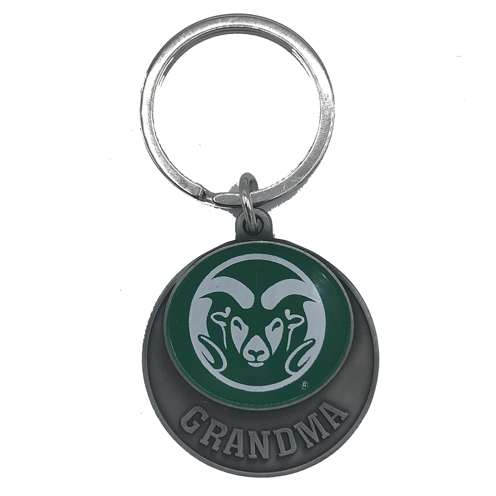 Image For CSU Grandma Green Ram Head Key Tag