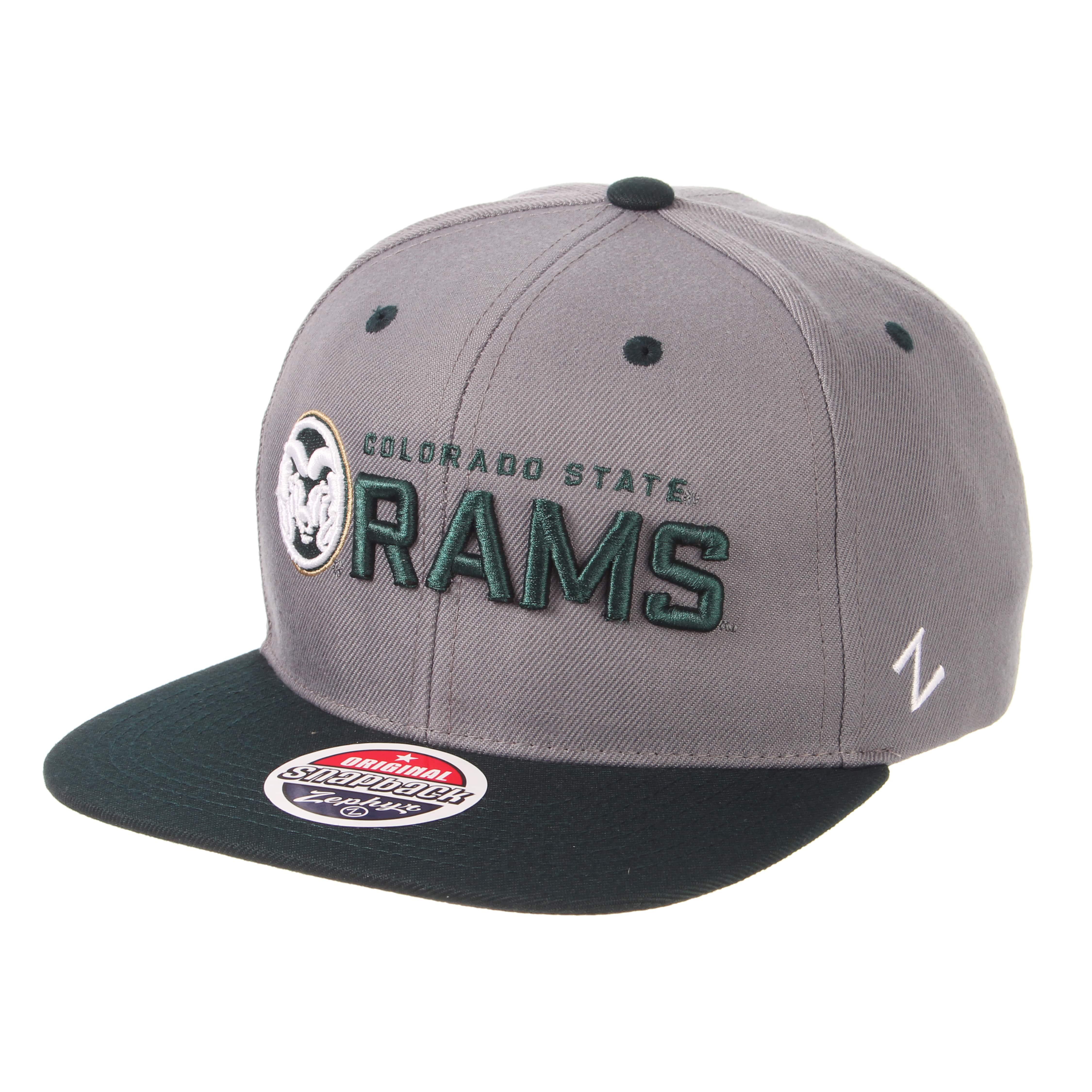 fddc83fa948 Grey Green Colorado State University Zephyr Hat