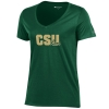 Image for Green Colorado State University V Neck Tee by Champion