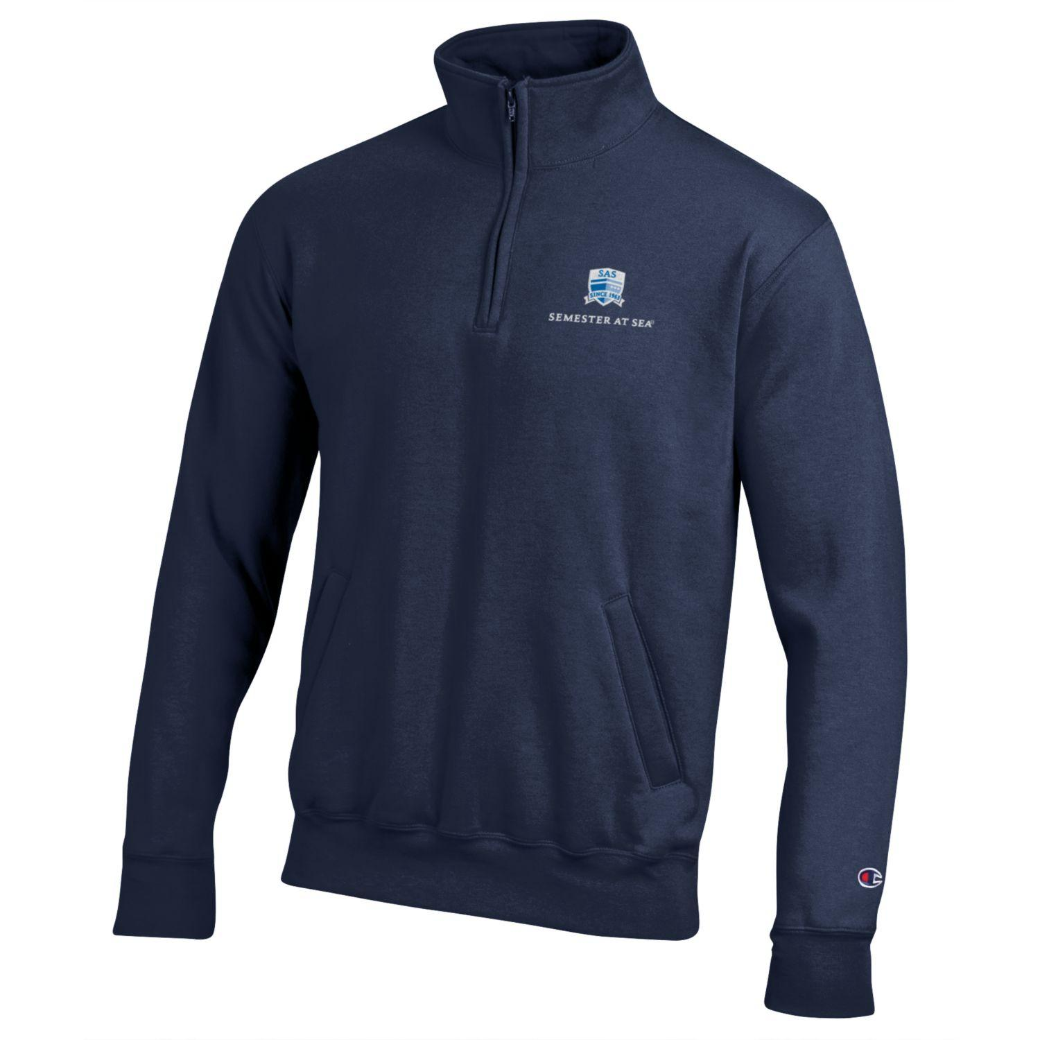 Cover Image For Semester At Sea Navy PowerBlend 1/4 Zip