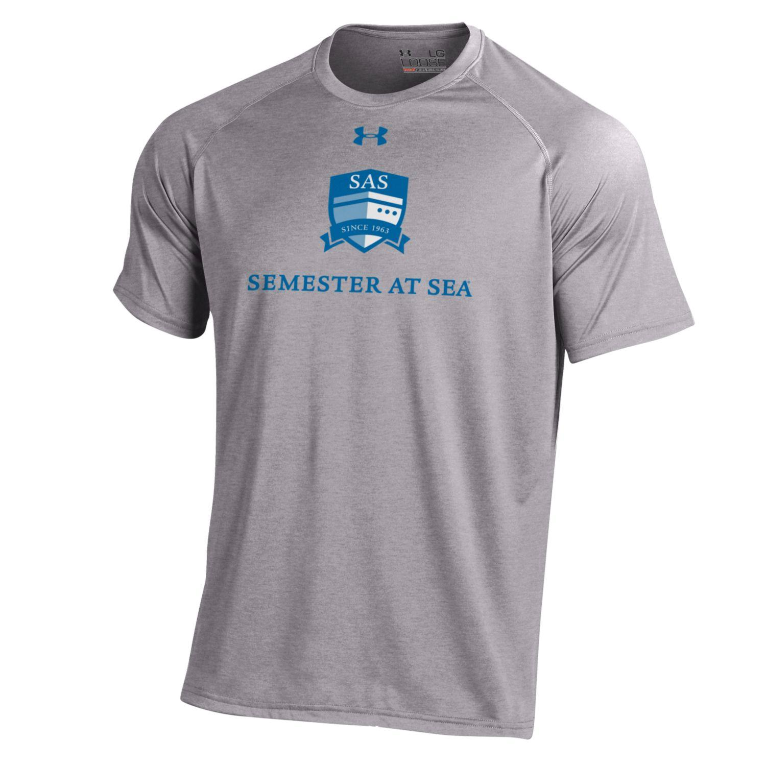 Image For Grey Heather Semester at Sea Under Armour Short Sleeve Tee