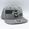 Image for Zephyr Men's Grey Ram Head Stars and Strips 32/5 Hat