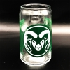 Image for 16 ounce CSU Ram Can Glass