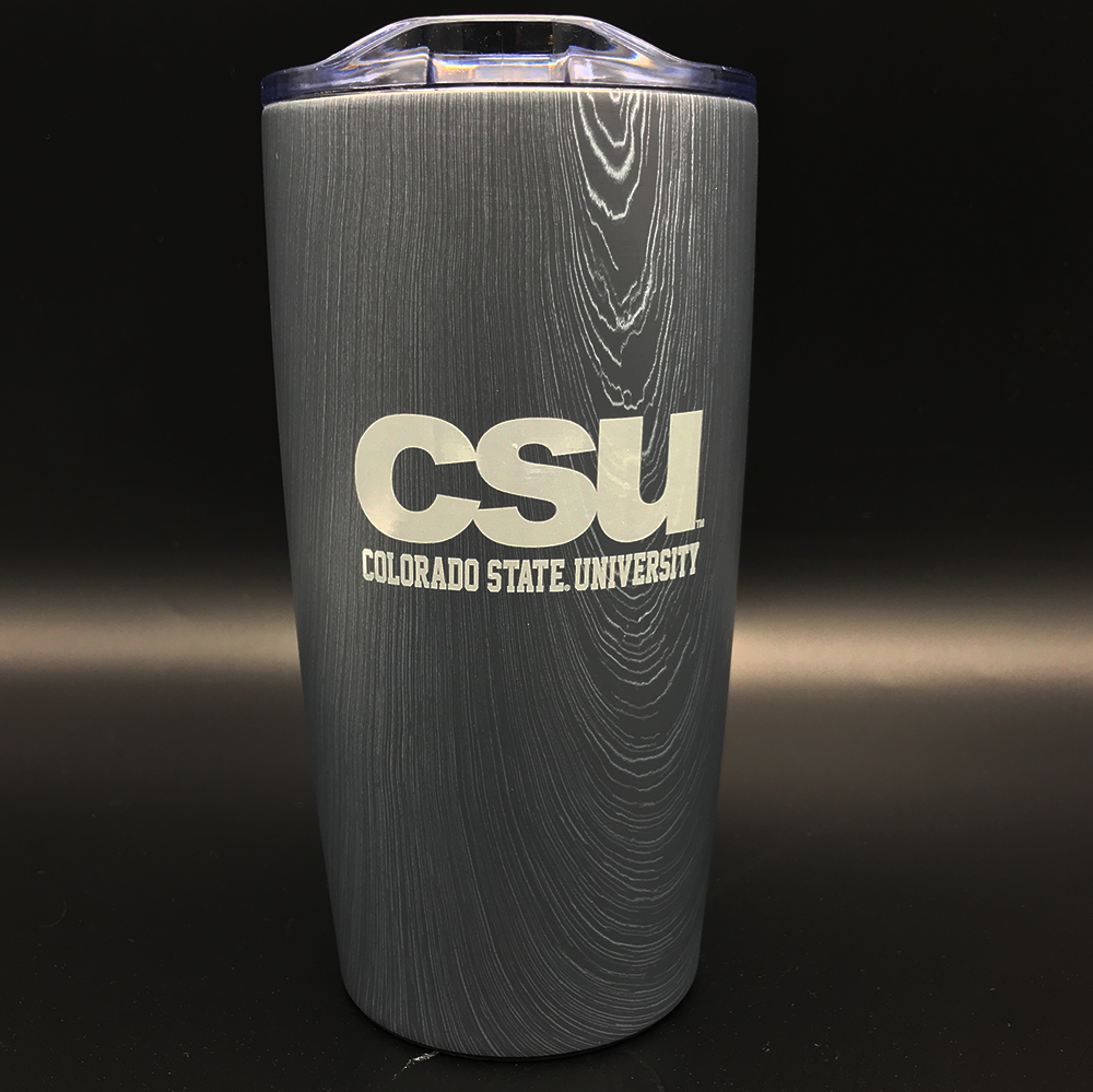 Cover Image For Grey Woodsy CSU Tumbler