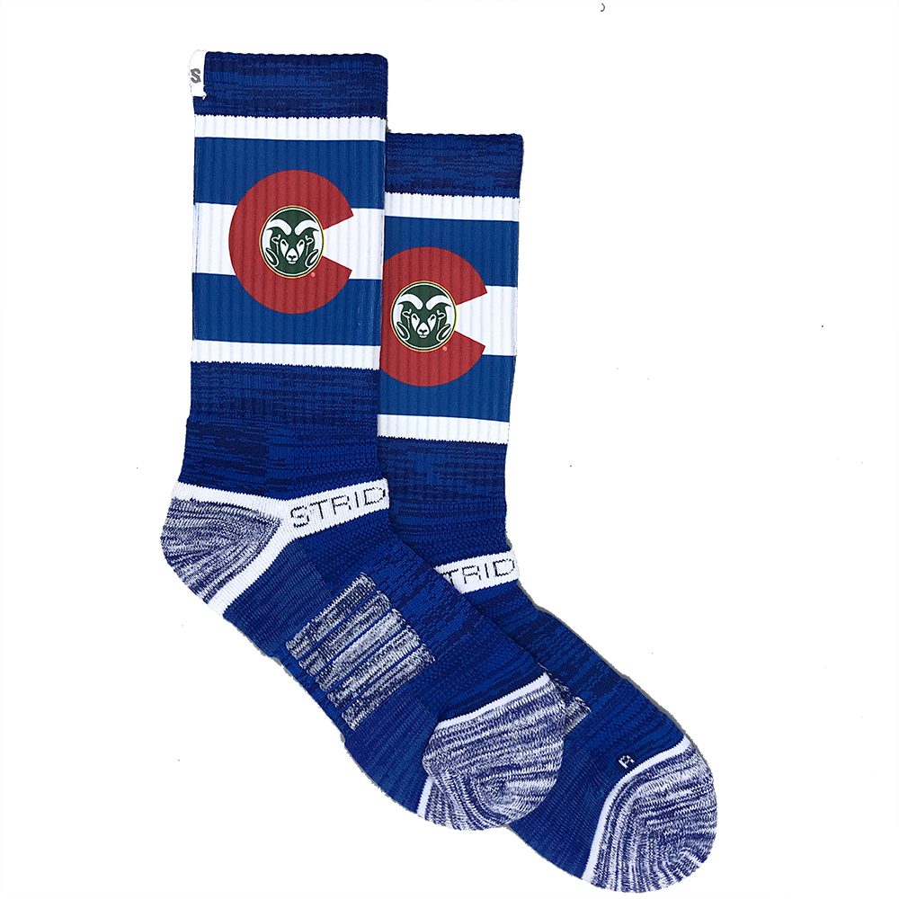Image For Strideline Premium Blue State Pride Crew Sock