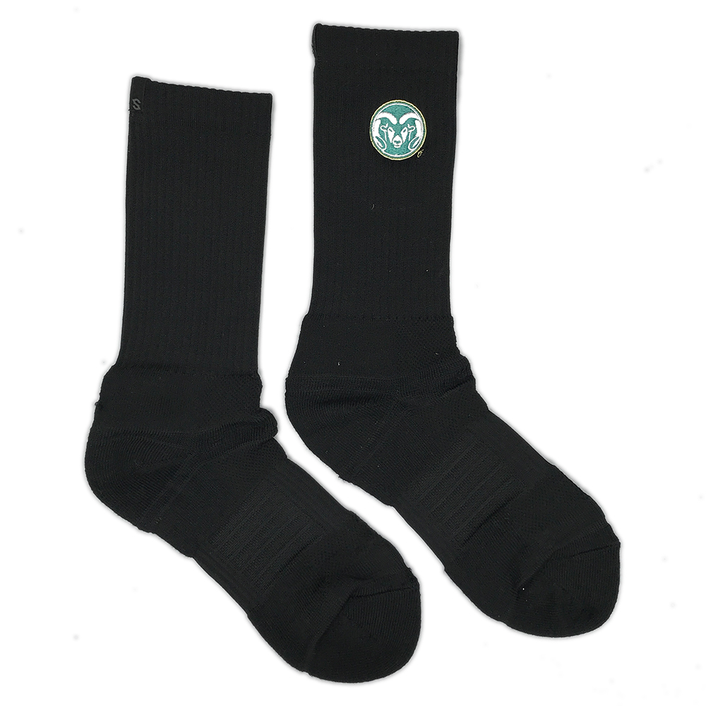 Image For Black Embroidered Strideline Sock