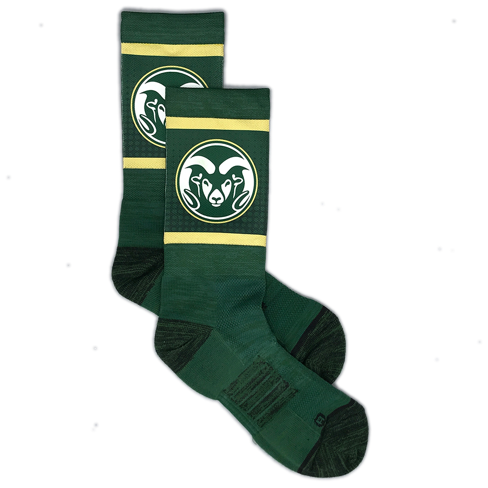 Image For Green and Gold CSU Strideline Socks