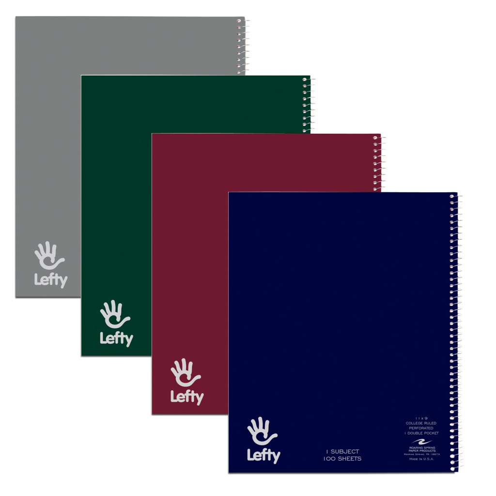 Cover Image For Lefty 1 Subject College Ruled Spiral Notebook