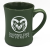 "Cover Image for White and Green CSU Rams ""Happy Place"" Mug"
