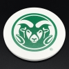 Cover Image for Colorado State University Ram Head Wine Barrel Coaster