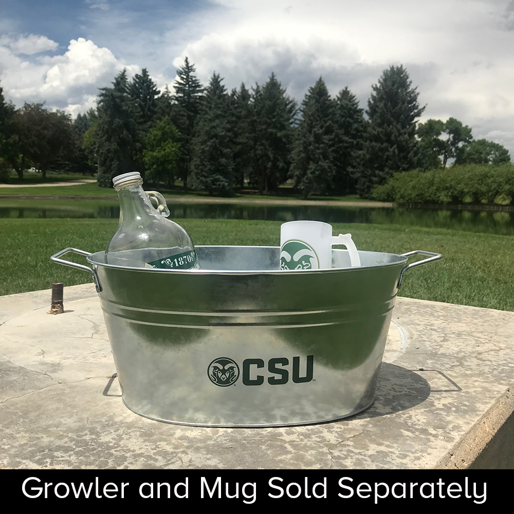 Image For CSU Rams Silver Oval Drink Tub