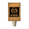 Image for Wooden Colorado State University Wine Bottle Stop
