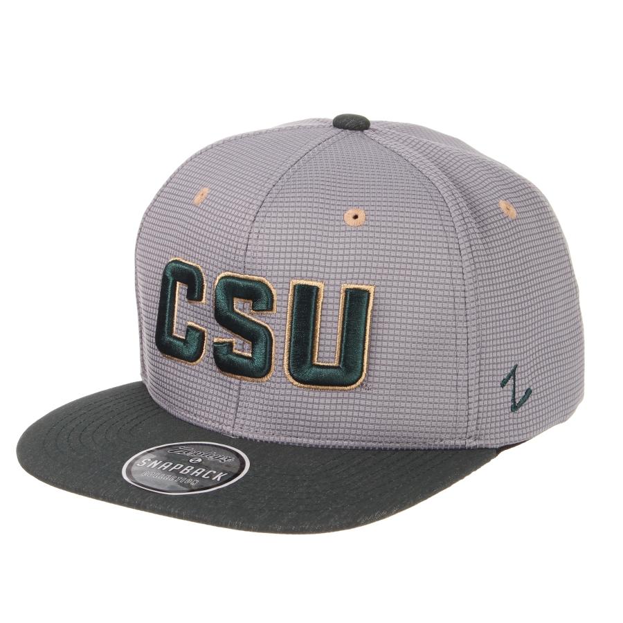 1cbb0f3258b Grey Green FlatBill CSU Hat by Zephyr