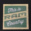 "Image for 3"" X  3""  Wood Ram Country Magnet"