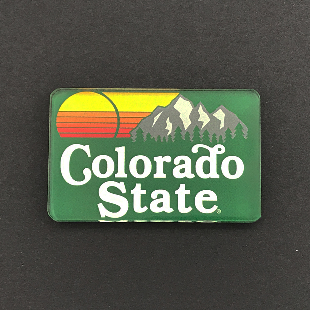 Cover Image For 2X2 Acrylic Colorado State Magnet