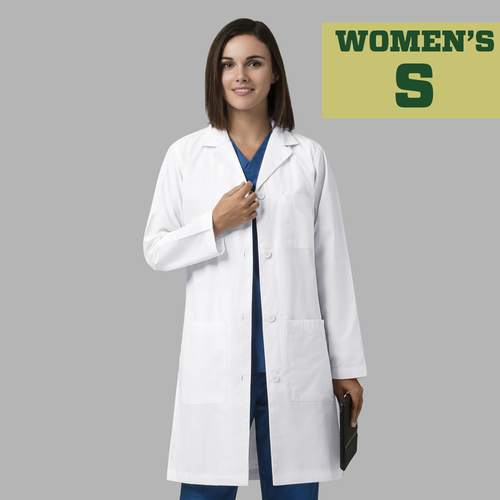 Image For WonderLab Women's Long Lab Coat - Size Small
