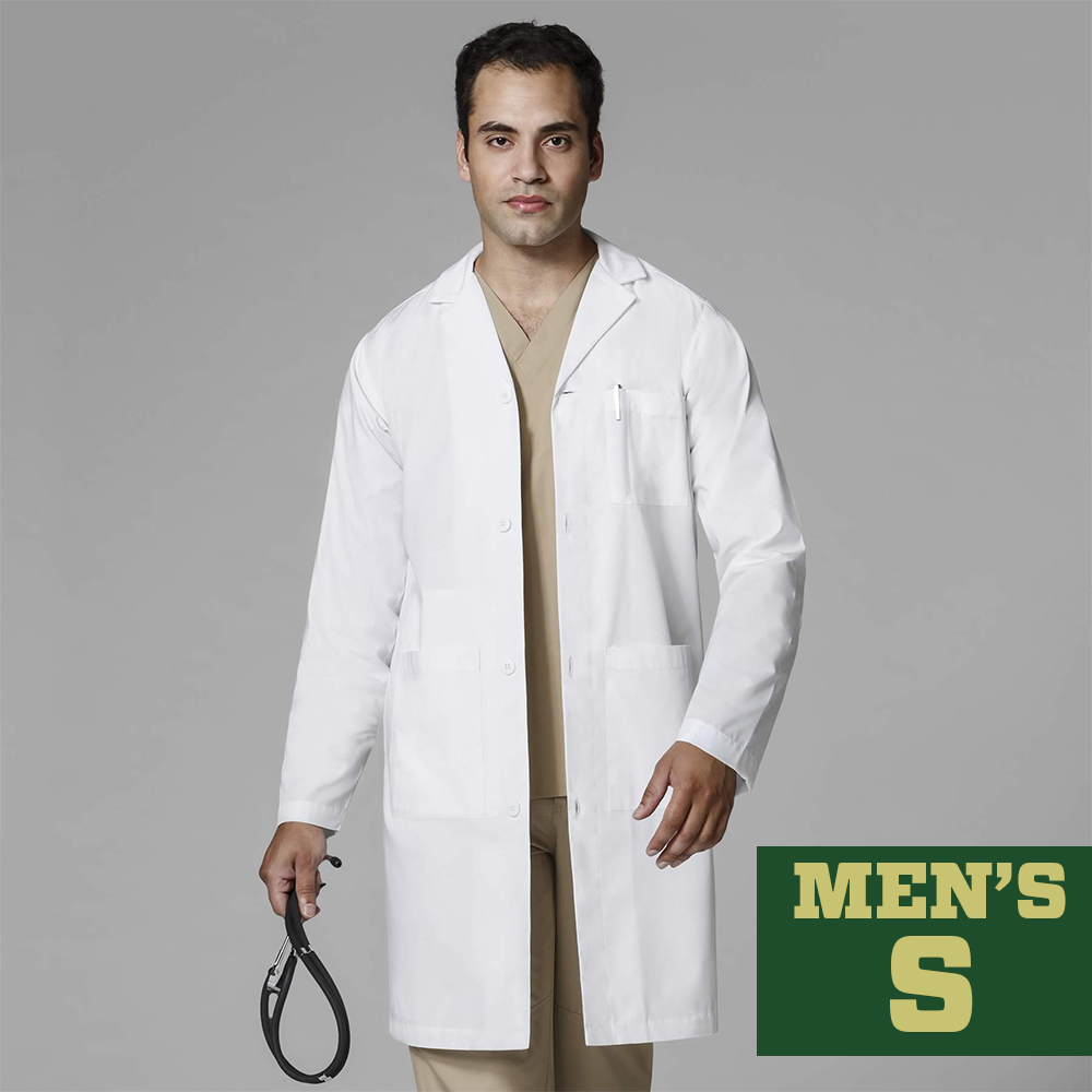 Image For WonderLab Men's Long Lab Coat - Size Small