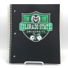"CSU 3 Subject Spiral Bound Notebook - 120 ct - 11"" X 9"" Image"